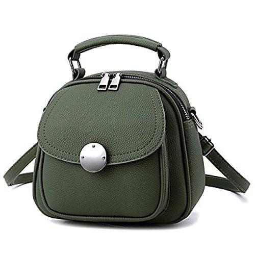DFUCF Damen PU Mode Lässig Büro Beruf Umhängetasche Schiefer Tasche Handtasche Aktenkoffer Langlebig Military Green