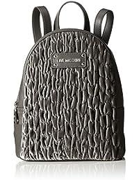 Borsa Glitters Pu Nero, Womens Backpack Handbag, Black, 15x35x45 cm (B x H T) Love Moschino