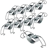 axentia Universalbügel für Einkochgläser - Einkoch-Universalbügel 10 Stück - Klammern für Weckgläser aus Edelstahl - Metall-Klemme - Clips zum Verschließen von Einkochgläsern - Einkochklipsen