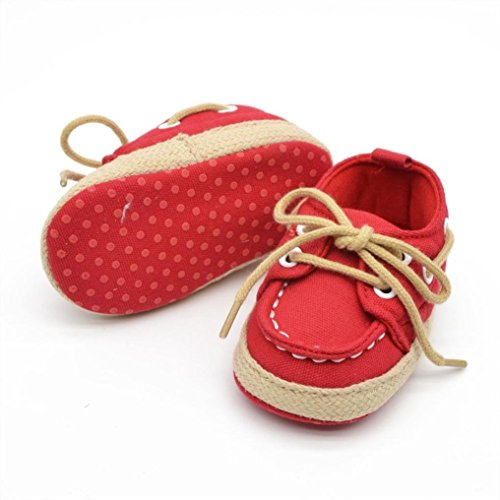 kingko® Baby Girl douce Sole Chaussures Prewalker Chaussettes Sneakers Rouge