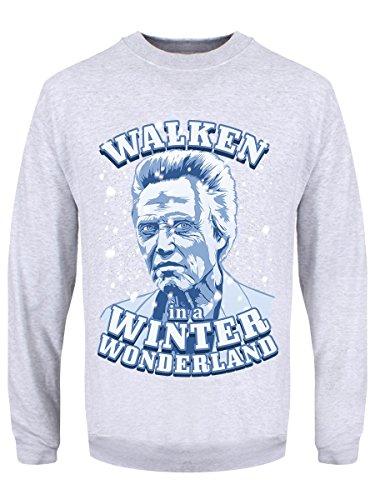 Winter Wonderland-sweatshirt (Herren Sweater Walken In A Winter Wonderland Weihnachtspullover grau)