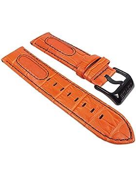 Lotus Ersatzband Uhrenarmband Leder Band Orange 23mm für L15788/2 L15788