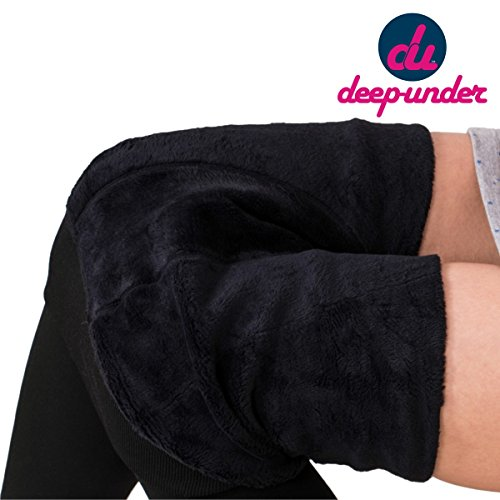 Deep Under Winter Special. Imported Solid/Plain Woolen Legging (With Art-Fur ) Black