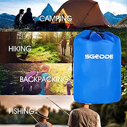 SGODDE Inflatable Sleeping Mat Camping Self Inflating Sleeping Pad with Pillow, Compact Lightweight Mattress Inflatable Roll Up Foam Bed Pads for Outdoor Backpacking Hiking 7