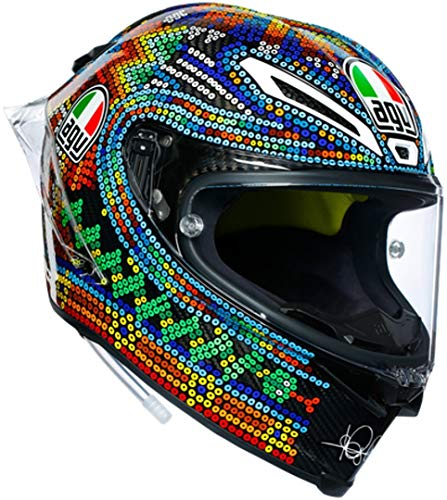 Race Casco AGV Pista Gp R invernale Test 2018Valentino Rossi VR|46Multicolo