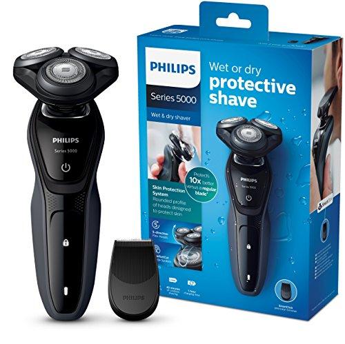 Philips Elektrischer Nass-und Trockenrasierer Series 5000 mit MultiPrecision-Klingen S5270/06, Präzisionstrimmer