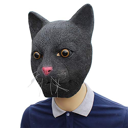 ZQYQ Halloween Maske, Halloween Cosplay Schwarze Katze Maske, Tanzparty, Party (Herr Der Ringe Katze Kostüm)
