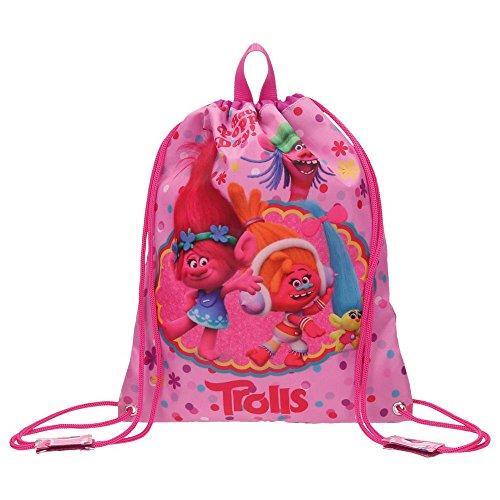 Imagen de trolls happy  escolar, 34 cm, 0.92 litros, rosa