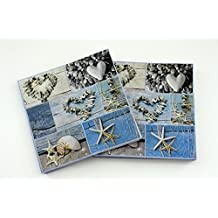 4-lagig Maritim 40x40cm 50 Serviette Meeresbrise in Blau aus Tissue Deluxe®