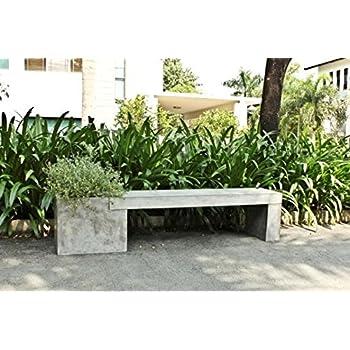 Amazon.de: Betonmöbel Sitzbank mit Blumenkübel 200x40 cm