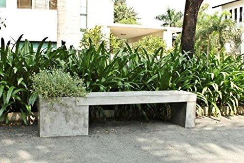 Betonmöbel banc avec bacs 200 x 40 cm