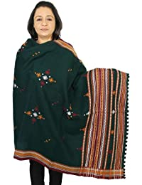 Women's Accessory Shawl Indian Woolen Handmade Embroidered 84X36 inches