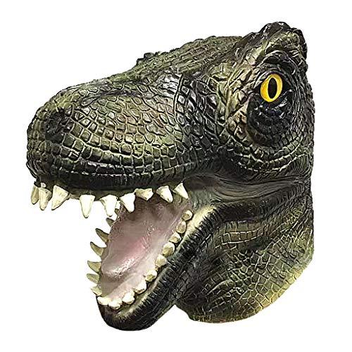 Krokodil Kopf Kostüm - Bescita1 Halloween Latex Vollkopf Maske Alligator