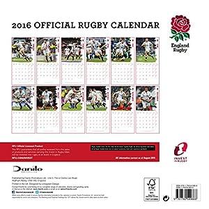 The Official England Rugby Union 2016 A3 Calendar (Calendar 2016)
