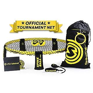 Spikeball Pro Kit (Tournament Edition) - inkl. stärker Spielen Net, neue Bälle können Spin, tragbar Ball Pumpe, Rucksack - AS SEEN ON Shark Tank TV