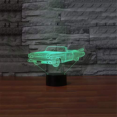 3D Nachtlicht Sportwagen bunte visuelle Stereo-LED 3D Licht Acryl Licht Fernbedienung Touch visuelle Atmosphäre Licht Kinder Geschenk Brille ## 1