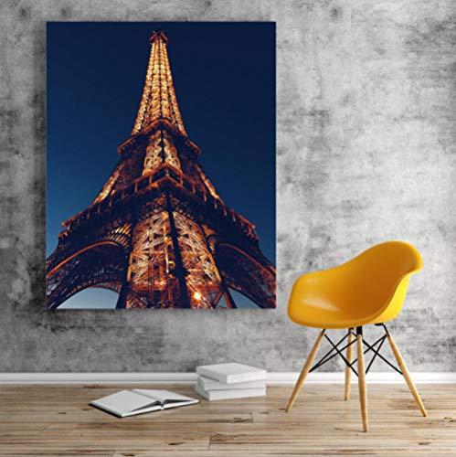 LPFLF Besondere Architektur Frankreich Paris Eiffelturm Klassische Romantische Ästhetische DIY Digitales Ölgemälde Dekoration 40 * 50 cm