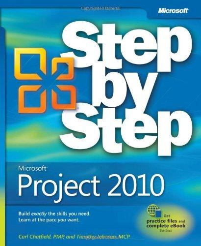 Microsoft Project 2010 Step by Step by Carl Chatfield (2010-06-12) par Carl Chatfield;Timothy Johnson