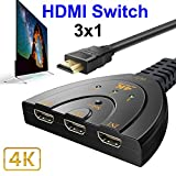 Dxlta 3 Port HDMI Schalter Splitter Kabel 4K * 2K 2160P Multi Switcher HUB für LCD HDTV PS Xbox