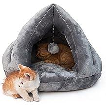 Cama acogedora de lujo del gato, durmiente caliente suave del gatito del invierno (M