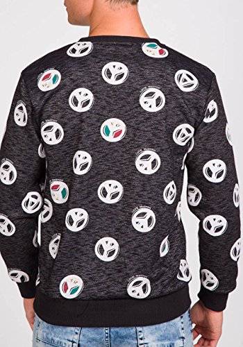 BOLF Herrenpullover Sweatshirt Sweatjacke Langarm Pullover MADMEXT 1226 Schwarz_1707