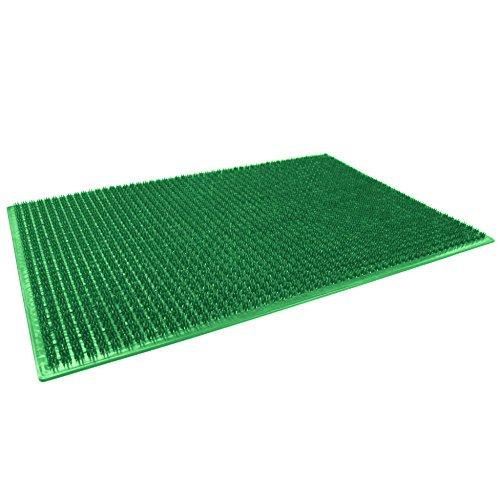 décor line Tapis d'Entrée Rectangle Polyéthylène Vert 58 x 38 cm