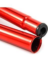 troxie (TM) 5colores–bastón ultraligero ajustable de 32–37Inchs aleación de aluminio telescópica Senderismo Bastón, rojo