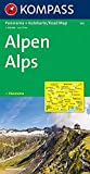 Kompass Panorama-Karten, Alpen -