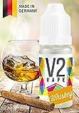 V2 Vape E-Liquid Whiskey ohne Nikotin - Luxury Liquid für E-Zigarette und E-Shisha Made in Germany aus natürlichen Zutaten 50ml 0mg nikotinfrei