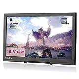 Koolertron Monitor portátil para Juegos de 15.6 Pulgadas, 1920x1080 1080P HDR HDMI Monitor portátil con Altavoz para NS PS4 PS3 Xbox PC Mac Raspberry Pi Ordenador CCTV con DC (15.6'[HDR] Negro)