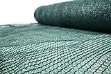 Schattiernetz 55% 60g/m2 Schattiergewebe Sonnenschutz Zaunblende 6 Größen (1,5x25m)