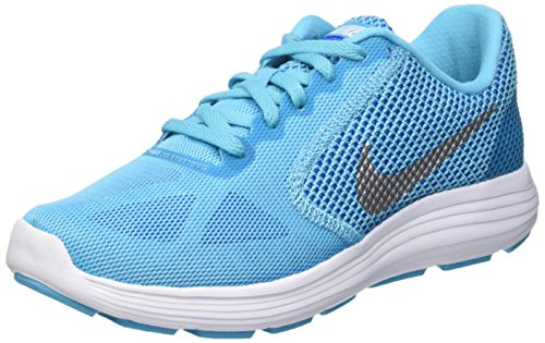 Nike Wmns Revolution 3, Entraînement de course femme Bleu (Gmm Bl/Metallic Silver/Pht Bl/Gm Ry)