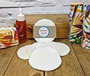 Bamboo Reusable Make Up Remover Pads. Pack of 5 handmade dual sided organic round bamboo cleansing pads. For b
