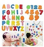 ODN Lettres de bain de lettres EVA numéros doux Jouets de bain Jouets de bain de bébé Accessoire de piscine de bains