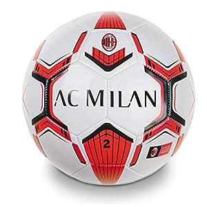 Mondo-13716 Milan - Mini balón de fútbol, Color Rojo y Negro, 13716