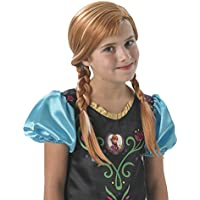 Princesas Disney - Peluca de Anna, para niñas, color beige (Rubie's 36172)