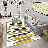 CHAI Wohnzimmer Dekorative Teppich Bodenmatte Europäischen Einfachen Stil Geometrische Muster 3D Druck Rechteck Teppich Kinder Teppich Schlafzimmer Rutschfeste Teppich Teppich Teppiche