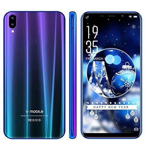 Smartphone offerta Del Giorno V·Mobile XS Pro 32GB ROM 3GB RAM 3G+ Cellulari offerte 5.85 Pollici Android 7 Quad Core Face ID Fotocamera Posteriore 13MP 19:9 HD+ 3800mAh Dual SIM GPS WIFI (1Blu)