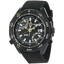2bb7f35bf5e3 Timex T2N729 - Reloj analógico de caballero de cuarzo con correa de  plástico negra (altímetro