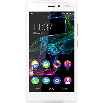 Wiko Ridge Smartphone débloqué 4G (Ecran : 5 pouces - 16 Go - Double SIM - Android 4.4 KitKat) Blanc/Or