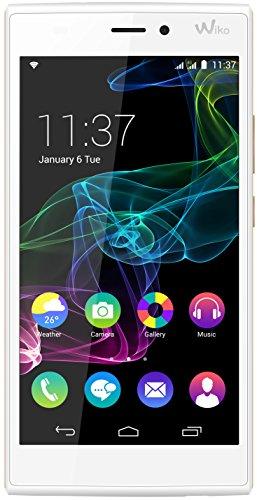 Wiko Ridge Smartphone, 16 GB, Dual SIM, Bianco/Oro