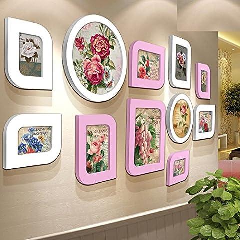 Adesivi da parete cinese muro di foto 8-inch solido legno creativo matrimonio foto telaio appeso (Occidentale Del Metallo Di Arte)