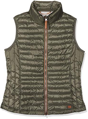 camel active Womenswear Damen Weste-Stepp Sportweste, Grün (Khaki (Herstellergröße:34)