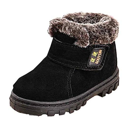 Clode® Winter Baby Kinder Art Baumwoll stiefel warme Schnee Aufladungen Schwarz
