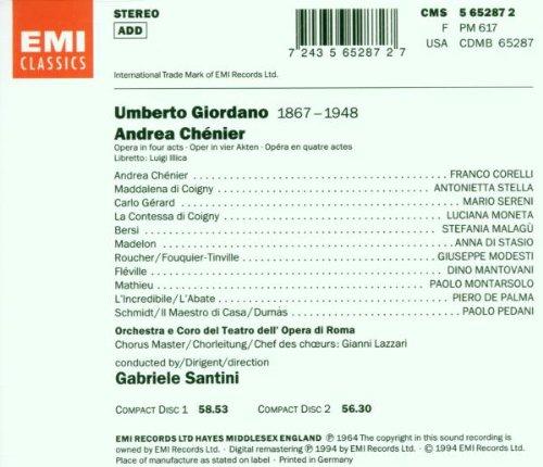 Andrea Chenier Corelli [Import USA]