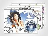 GRAZDesign 411007_4 Fenstersticker Musik | Fensterbild bunte Aufkleber | Glasdekor für Fenster (DIN A4 (4Stück))