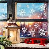 116 Schneeflocken Fensterbild Abnehmbare Fensterdeko Statisch Haftende PVC Aufkleber Winter Dekoration-Fensteraufkleber/Fensterbilder / Fensterdeko Set Vergleich