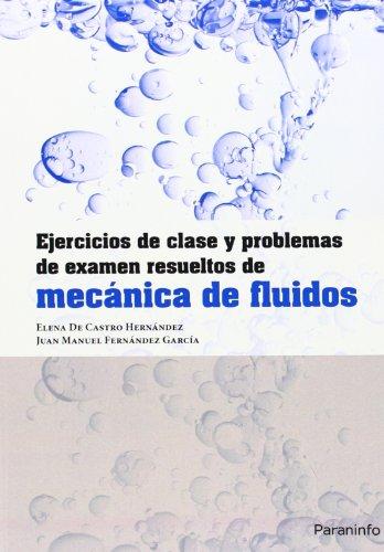 Ejercicios de clase y problemas de examen resueltos de mecánica de fluidos por ELENA DE CASTRO HERNÁNDEZ