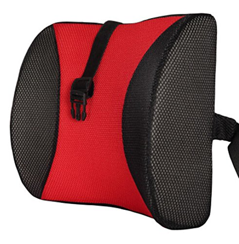 Rouge Haute Memory Foam Resilient Seat Coussin de soutien lombaire Oreiller de voitures Bureau Retour Soutien
