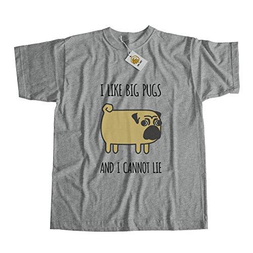 Pug Shirt I Like Big Pugs And I Cannot Lie Shirt Dog Shirt Pug Life Shirt Pug Lover Shirt Grau